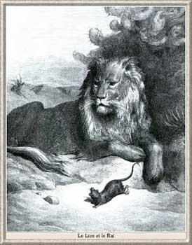 Le lion et le rat de jean de la fontaine au 17 me si cle - Image le lion et le rat ...